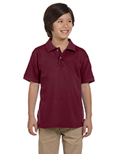 Harriton M200Y  6 oz Cotton Pique Youth Short-Sleeve Polo at GotApparel