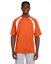 Harriton M322 Men 4.2 oz. Athletic Sport Colorblock T-Shirt at GotApparel