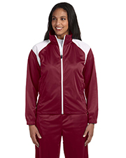 Harriton Women's Tricot Track Jacket