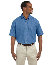 Harriton M550S  Short Sleeve Denim Shirt at GotApparel