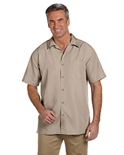 Harriton M560 Mens Barbados Textured Camp Shirt at GotApparel