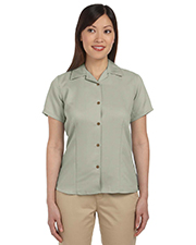 Harriton M570W Women Ladies' Bahama Cord Camp Shirt
