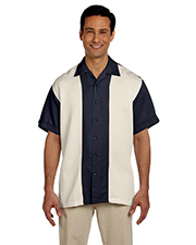 Harriton M575 Mens Two-Tone Bahama Cord Camp Shirt at GotApparel