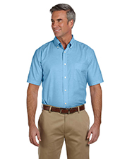Harriton M600S  Short Sleeve Oxford w/Stain Release at GotApparel