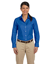 Harriton M600W Hariiton Ladies Long Sleeve Oxford w/Stain Release at GotApparel