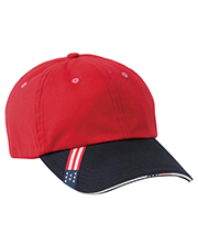 Harriton M840 Unstructured Cap with Sandwich Bill at GotApparel