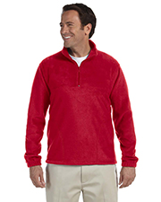 Harriton M980  Quarter-Zip Fleece Pullover at GotApparel