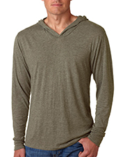 Next Level NL6021  Mens Tri-Blend Long Sleeve Hoody at GotApparel