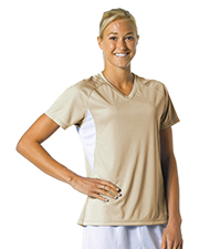 A4 Drop Ship NW3223 Women's Color Block Performance V-Neck Shirt