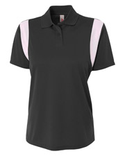 A4 NW3266 Women Ladies Color Block Polo with Knit Collar