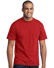 Port & Company® Tall 50/50 Cotton/Poly T-Shirt With Pocket