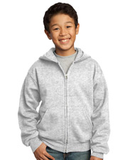 Port & Company PC90YZH  Youth Full-Zip Hooded Sweatshirt at GotApparel