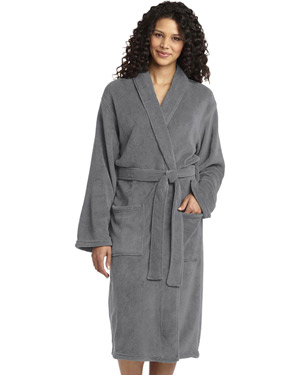 Port Authority R102   Women Plush Microfleece Shawl Collar Robe at GotApparel