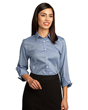 Red House RH45  Ladies 3/4-Sleeve Non-Iron Pinpoint Oxford at GotApparel