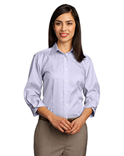 Red House RH61   Women Ladies 3/4Sleeve Dobby NonIron ButtonDown Shirt at GotApparel