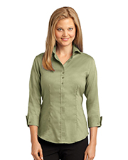 Red House RH69   Women Ladies 3/4Sleeve Nailhead NonIron ButtonDown Shirt at GotApparel