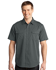 Port Authority S648 Men StainResistant Short Sleeve Twill Shirt at GotApparel
