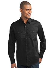 Port Authority S649 Men StainResistant Roll Sleeve Twill Shirt at GotApparel