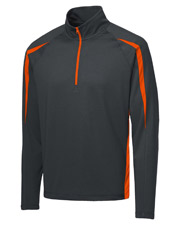 Sport-Tek ST851 Men SportWick   Stretch 1/2Zip Colorblock Pullover at GotApparel