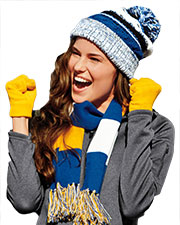 Sport-Tek STC21 ® Pom Pom Team Beanie.  at GotApparel