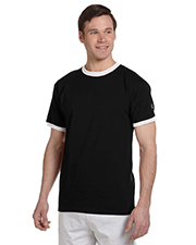 Champion T1396  Tagless Ringer T at GotApparel