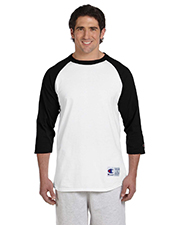 Champion T1397  Tagless Baseball Raglan T at GotApparel