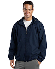 Sport-Tek TJST73 Men Tall Hooded Raglan Jacket at GotApparel