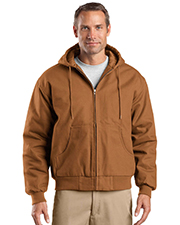 CornerStone® TLJ763H Men's Tall Duck Cloth Hooded Work Jacket at GotApparel