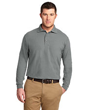 Port Authority TLK500LS Men Tall Silk Touch™ Long Sleeve Polo at GotApparel