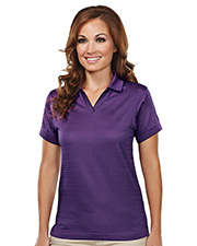 Tri-Mountain TRM402  Women's Poly Ultracool Basket Knit Johnny Collar Golf Shirt at GotApparel