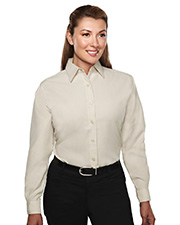 Tri-Mountain TRM852 Women's Rayon/Poly Long Sleeve Shirt With Mini-Houndstooth Pattern at GotApparel