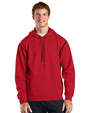 Sport-Tek TST246 Men Tall Tech Fleece Colorblock  Hooded Sweatshirt at GotApparel