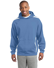 Sport-Tek TST265 Men Tall Sleeve Stripe Pullover Hooded Sweatshirt at GotApparel