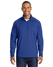 Sport-Tek TST850 Men Tall Sport-Wick Stretch 1/2Zip Pullover at GotApparel