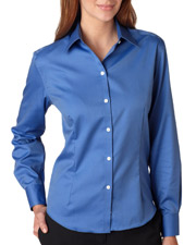 Van Heusen V0144  Ladies Pinpoint Shirt at GotApparel