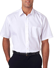 Van Heusen V0217     Men's Short-Sleeve Cotton-Rich Broadcloth  at GotApparel