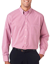 Van Heusen V0225     Men's Long-Sleeve Yard-Dyed Gingham Check  at GotApparel