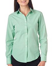 Van Heusen V0226     Ladies' Long-Sleeve Yarn-Dyed Gingham Check  at GotApparel