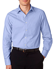 Van Heusen V0235     Men's Long-Sleeve Feather Stripe  at GotApparel