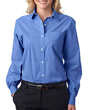 Van Heusen V0238     Ladies' Long-Sleeve Stretch Pinpoint Oxford  at GotApparel