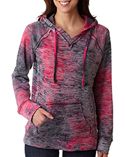 Weatherproof W1162   Women MV Sport Ladies' Courtney Burnout V-Notch Hooded Fleece at GotApparel