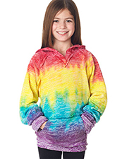 Weatherproof W1162Y   Girls MV Sport Girls' Courtney Burnout V-Notch Hooded Fleece at GotApparel