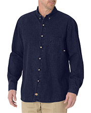 Dickies WL300 8 OZ DENIM LONG SLEEVE SHIRT at GotApparel
