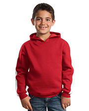 Sport-Tek Y255  Youth Pullover Hooded Sweatshirt with Stripe at GotApparel