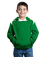 Sport-Tek Y264 Boys Pullover Hooded Sweatshirt with Contrast Color