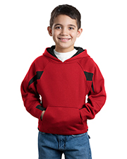 Sport-Tek Y266 Boys ColorSpliced Pullover Hooded Sweatshirt