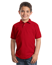 Port Authority Y500  Youth Silk Touch Sport Shirt at GotApparel