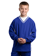 Sport-Tek ®  Youth Tipped V-Neck Raglan Wind Shirt