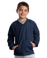 Sport-Tek YST72 Boys V-Neck Raglan Wind Shirt