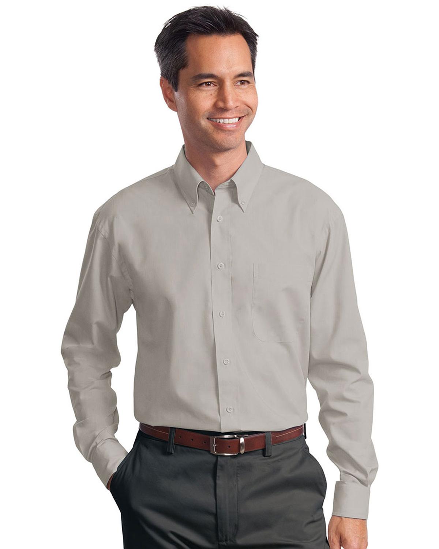 Port Authority Men/'s Button Down Collar Long Sleeve Value Poplin Shirt S632